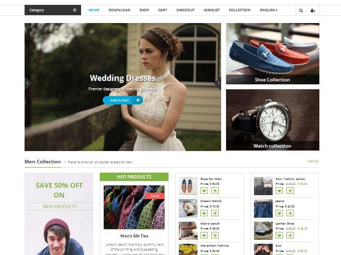 Online business shopping store wordpress