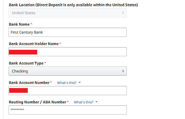 Amazon Direct Deposit