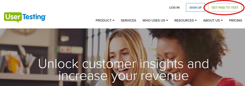 earn cash by testing websites on usertesting