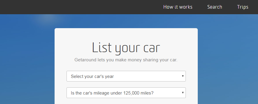 start earning money by listing your car
