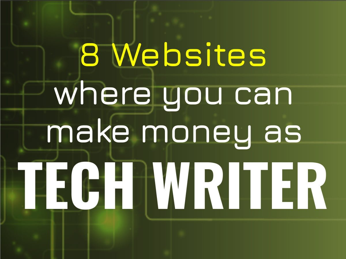 earn money as tech writer