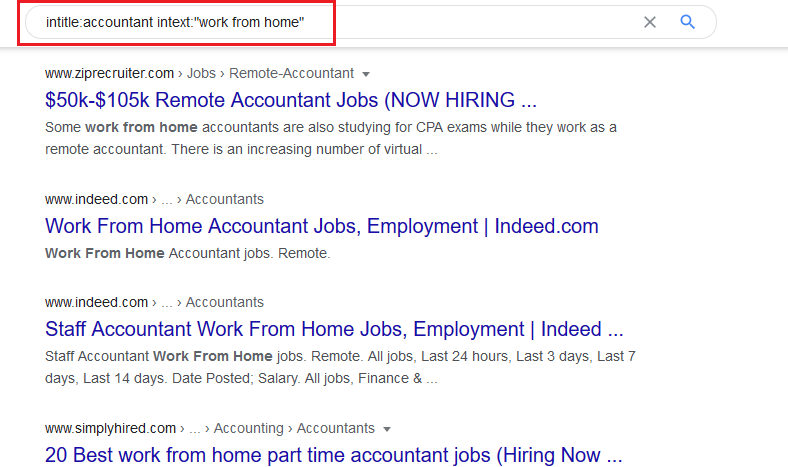 Google remote work from home jobs