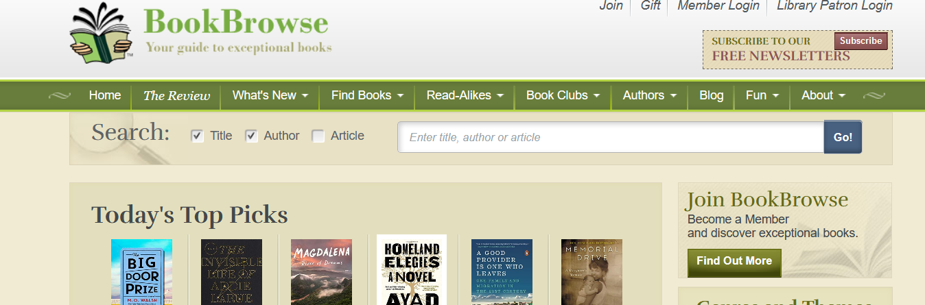 bookbrowse reviews
