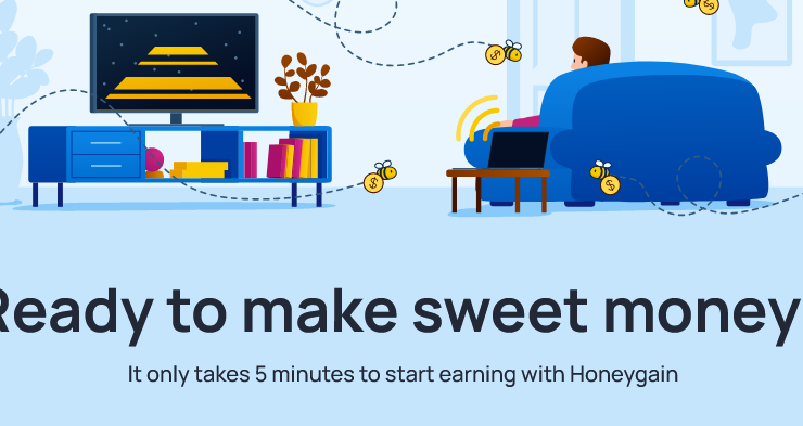 Earn money by sharing Internet with HoneyGain